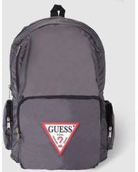 Guess - Mens Grey Backpack With Zip - Lyst