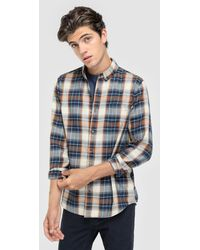 Green Coast - Checked Slim-fit Shirt - Lyst