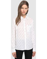 Green Coast - White Shirt With Hearts - Lyst