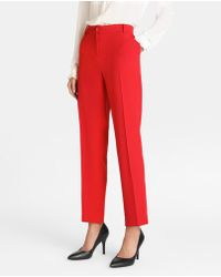 Yera - Red Straight Trousers - Lyst
