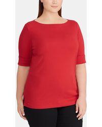 Denim & Supply Ralph Lauren - Plus Size Basic Red T-shirt - Lyst