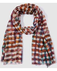 Gloria Ortiz - Multicoloured Check Print Foulard - Lyst