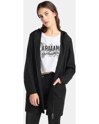 Armani Exchange - Grey Hooded Parka - Lyst