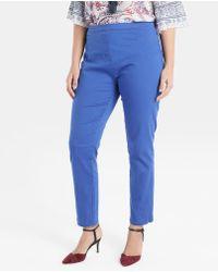 Couchel - Plus Size Basic Blue Jeggings - Lyst