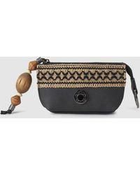 Caminatta - Black Wallet With Front Metallic Logo - Lyst