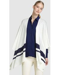 Lauren by Ralph Lauren - White Cape With Double Stripe - Lyst