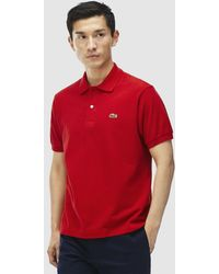 Lacoste - Red Short Sleeve Polo Shirt - Lyst