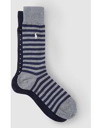 Polo Ralph Lauren - Two-pack Of Short Socks In Assorted Colours - Lyst