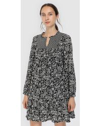 indi & cold - Long Sleeve Printed Dress - Lyst