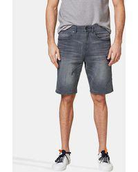 Esprit - Grey Denim Bermuda Shorts - Lyst