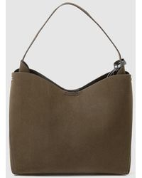 El Corte Inglés - Khaki Hobo Bag With Side Pleats - Lyst