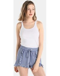 Green Coast - Striped Shorts With A Drawstring Waist - Lyst