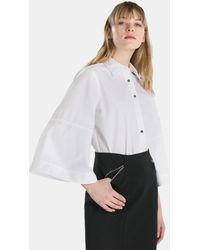 Lauren by Ralph Lauren - White Blouse With Puffy Sleeves - Lyst