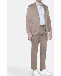 Mirto - Regular-fit Plain Beige Suit - Lyst