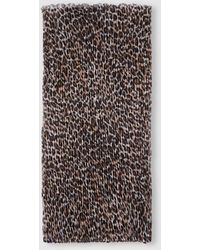 El Corte Inglés Brown Animal Print Pleated Foulard