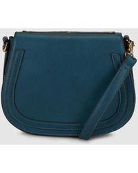 El Corte Inglés - Wo Petrol Blue Crossbody Bag With Rivets - Lyst