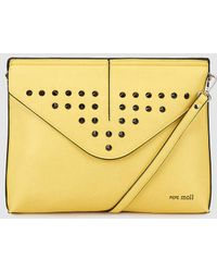 Pepe Moll - Wo Yellow Crossbody Bag With Studs - Lyst