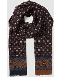 Mirto - Black Wool Foulard With Multicoloured Print - Lyst