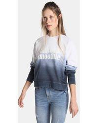 Green Coast - Deep Dye Sweatshirt With Slogan - Lyst