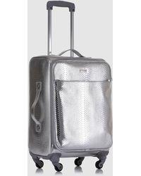 Gloria Ortiz - Silver-toned 37 L Soft-sided Cabin luggage - Lyst