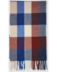 GANT - Jacquard Check Wool Scarf - Lyst