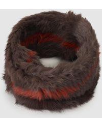 Gloria Ortiz - Brown Natural Fur Striped Cowl - Lyst