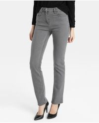 Zendra El Corte Inglés - El Corte Inglés Zendra Grey Straight Jeans - Lyst