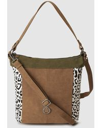 Caminatta - Colt Leather And Synthetic Material Camel Hobo Bag - Lyst