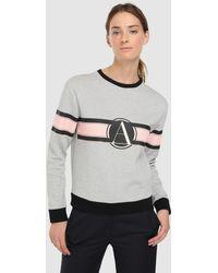Emporio Armani - Logo Print Sweatshirt - Lyst