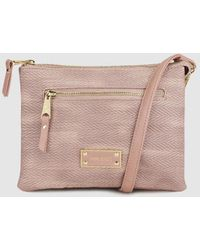 Pepe Moll - Wo Pink Crossbody Bag With Zip - Lyst