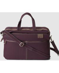 Caminatta - Burgundy Briefcase With Zip - Lyst