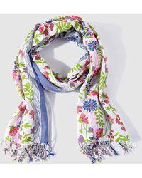 Caminatta - Floral Print Cotton Foulard - Lyst
