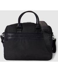 Guess - Black Briefcase With Shoulder Strap - Lyst