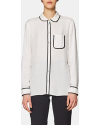 Esprit - Loose-fitting Blouse With Contrast Piping - Lyst b3993c1e0
