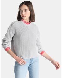 Green Coast - Plain-coloured Ribbed Sweater - Lyst