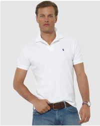 Polo Ralph Lauren - Regular-fit Blue Short-sleeve Polo Shirt - Lyst