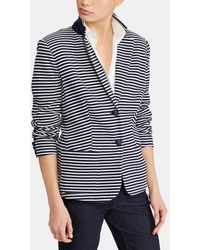Lauren by Ralph Lauren - Stripe Print Blazer With Two Pockets - Lyst