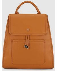Gloria Ortiz - Wo Camel Backpack With A Front Pocket - Lyst