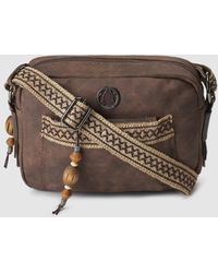 Caminatta - Brown Crossbody Bag With Jewelled Detail - Lyst