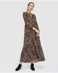 indi & cold - Long Printed Dress - Lyst