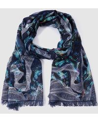Gloria Ortiz - Printed Cotton Blue Foulard - Lyst
