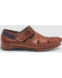 Fluchos - Brown Semi-closed Toe Sandals - Lyst