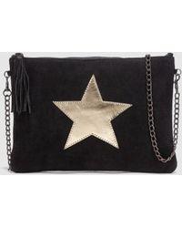 Green Coast - Black Crossbody Bag With Star - Lyst