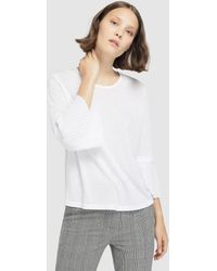 Tommy Hilfiger - White Top With Pleated Cuffs - Lyst