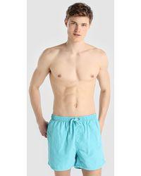 Green Coast - Plain Pale Blue Swim Trunks - Lyst