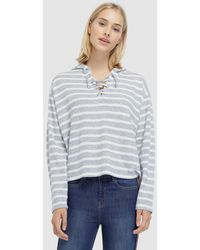 Green Coast - Striped Sweatshirt With Criss-cross Tie - Lyst