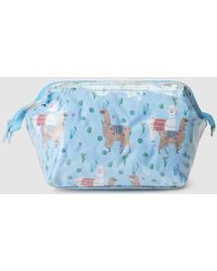 Green Coast - Toiletry Bag With Llamas And Zip - Lyst