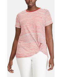 Denim & Supply Ralph Lauren - Striped T-shirt With Front Knot - Lyst
