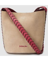 Jo & Mr. Joe - Colossal Combined Beige Leather Hobo Bag With Plaited Details - Lyst