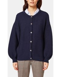 Esprit - Navy Blue Cardigan With Belled Sleeves - Lyst